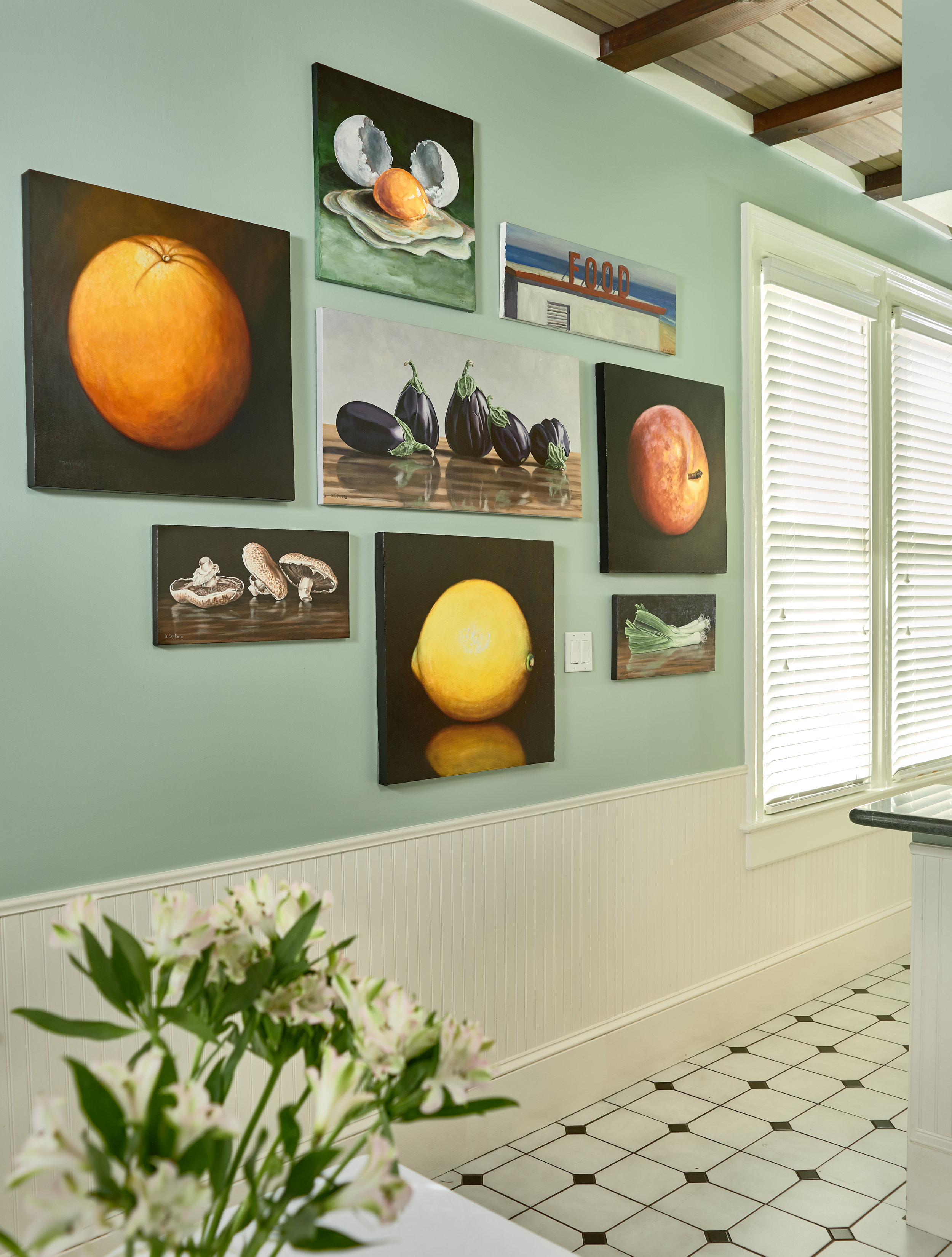 C.H.'s gallery wall.
