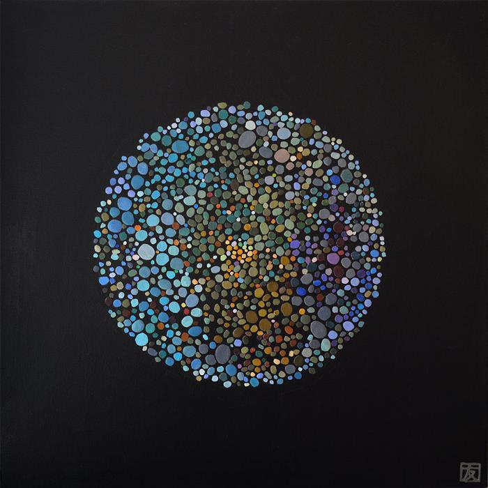 """Feelings  (24"""" x 24"""")  by Tomo Mori, mixed media"""