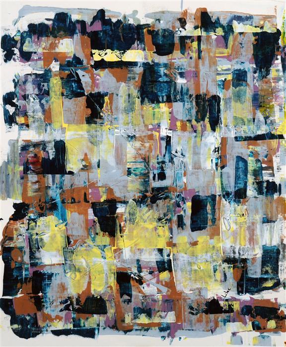 """Honeydew  (28"""" x 23.75"""") by Lilac Abramsky-Arazi, acrylic painting"""