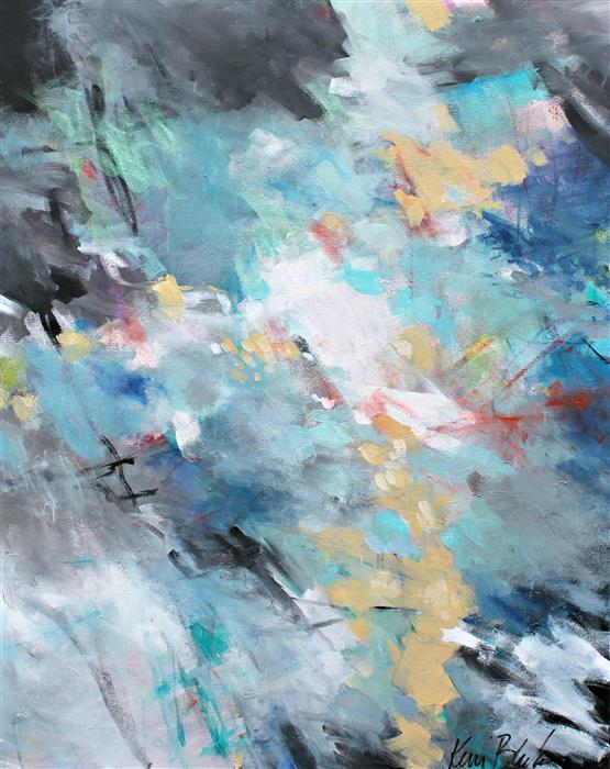 "Boreas Arrives (30"" x 24"") by Kerri Blackman, acrylic painting"