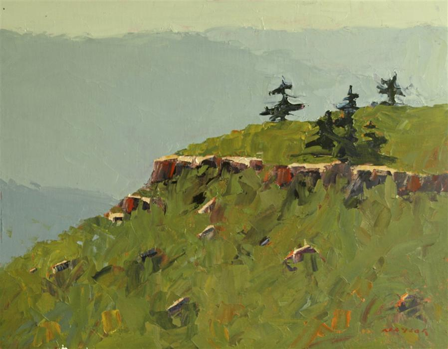 """Long View (14"""" x 18"""") by Rodgers Naylor, oil painting"""