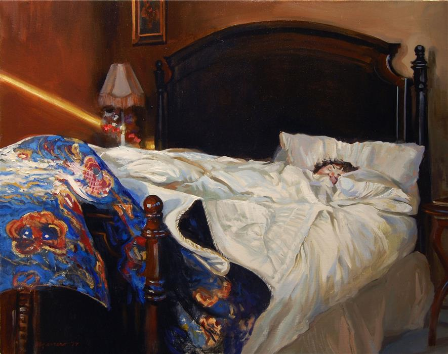 """Bed and Breakfast (24"""" x 30"""")by Onelio Marrero, oil painting"""