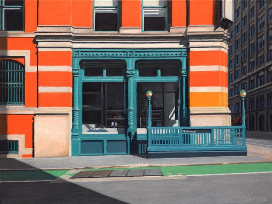 "Prince Street (18"" x 24"") by Nick Savides, oil painting"