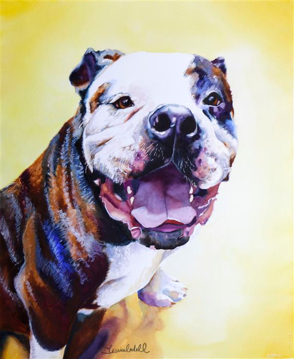 """Sheba (22"""" x 18"""") by Jessica Lindell, watercolor painting"""