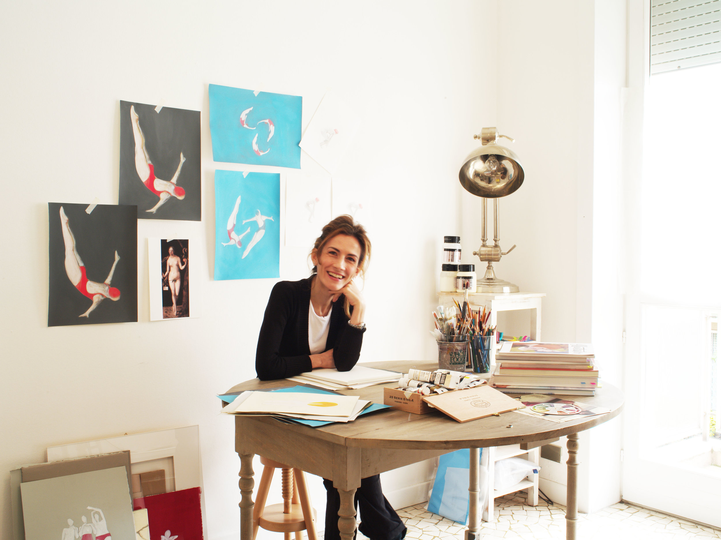 Roberta Pinna in her studio.