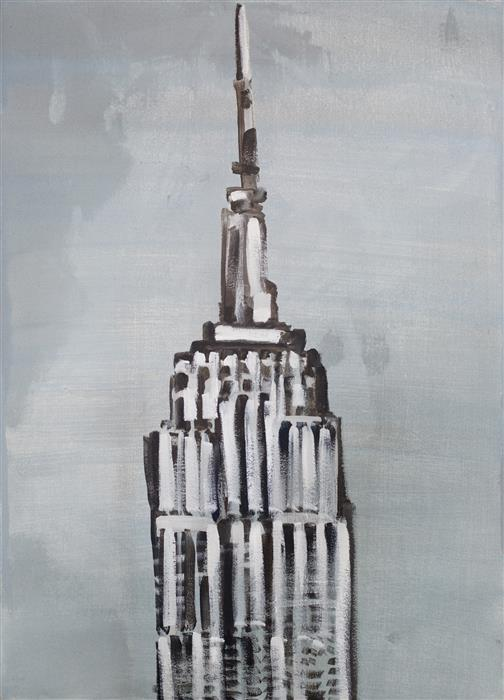 "Empire State  (27.5"" x 19.5"")   by Wren Meyers, acrylic painting"