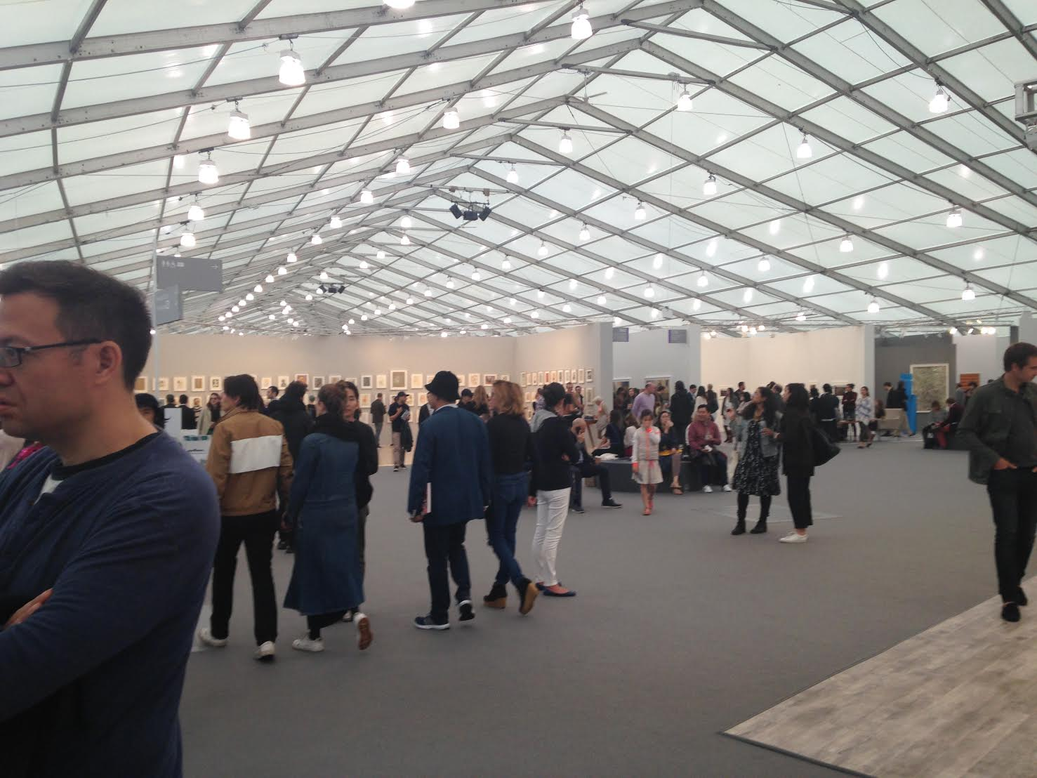 A photo taken of the scene at Frieze Art Fair in New York