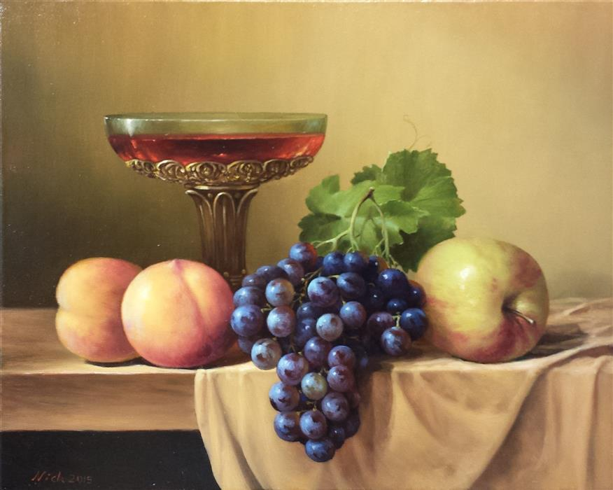 "Fruits  (16"" x 20"") by Nikolay Rizhankov, oil painting"