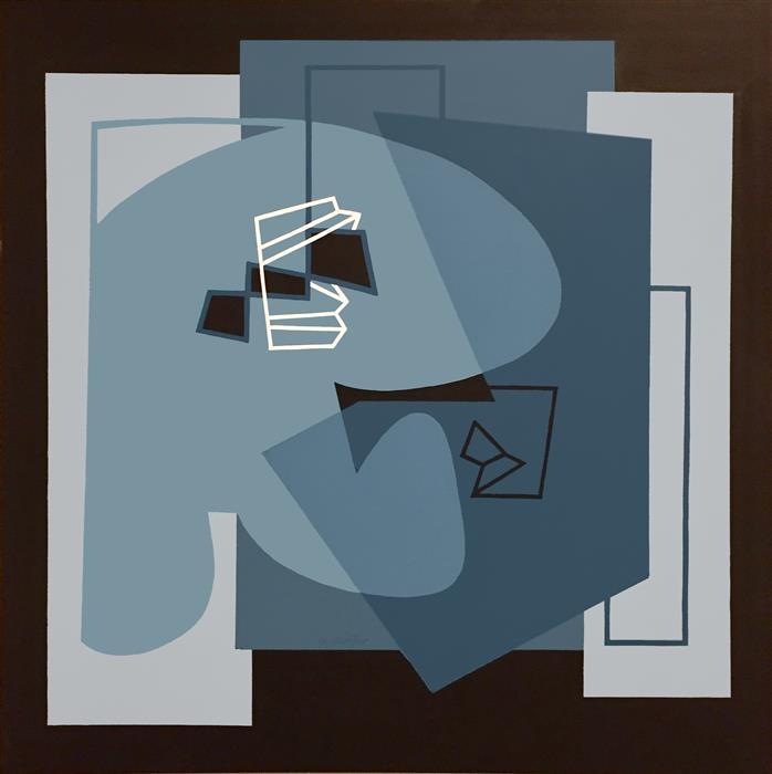 "OK I Get It  (30""x 30"") by Gwen Gunter, acrylic painting"