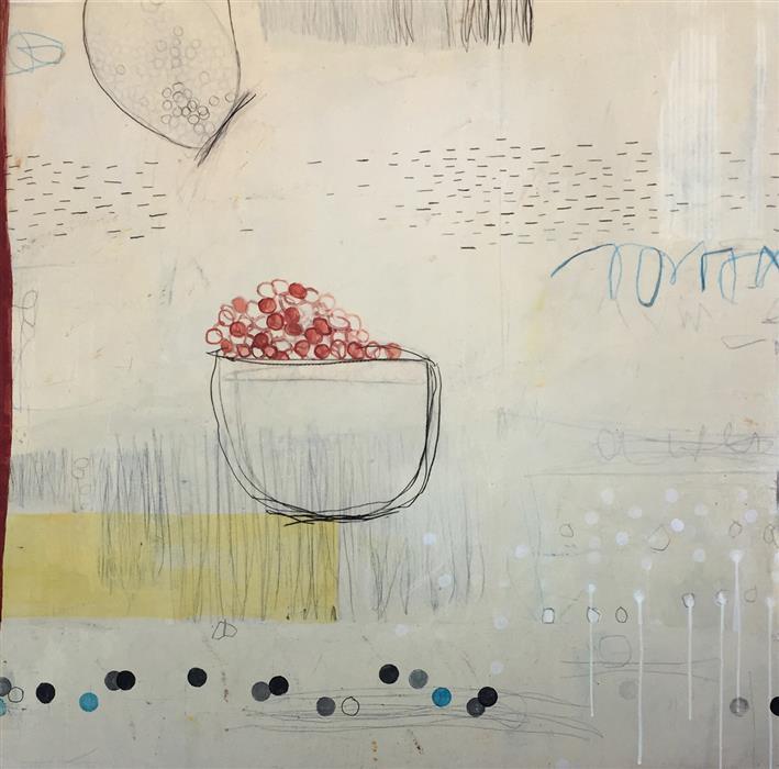 "Surface Beneath 3  (48"" x 48"") by Sidnea D'Amico, mixed-media artwork"