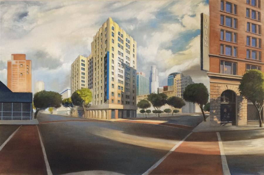 """Union  (24"""" x 36"""") by Jesse Aldana, oil painting"""