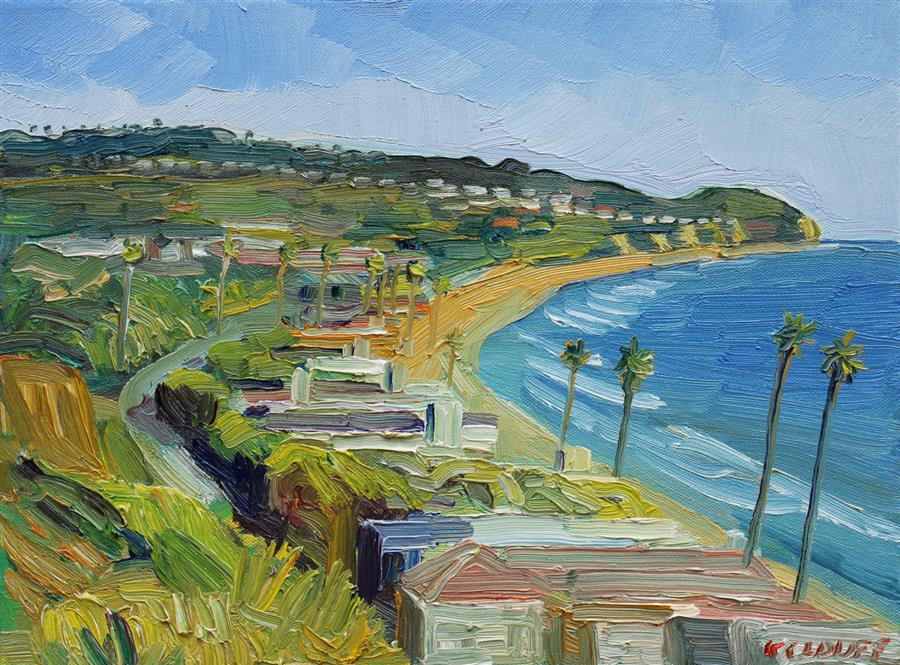 "Above Zuma, Malibu  (12"" x 16"") by John Kilduff, oil painting"