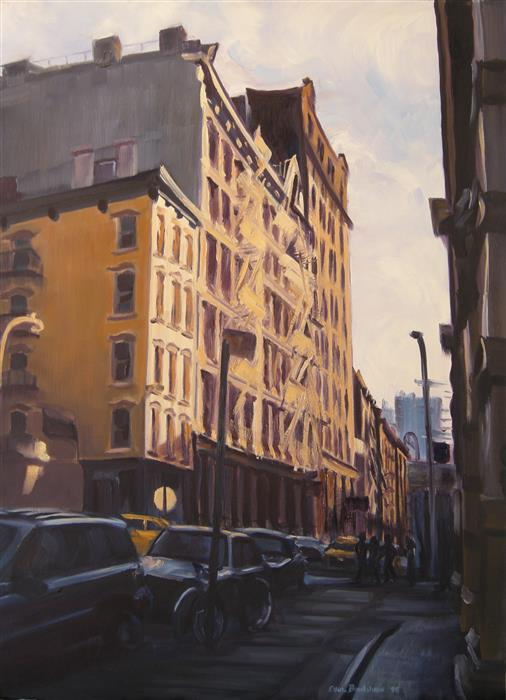 "SoHo Afternoon  (30"" x 22"") by Ellen Bradshaw, oil painting"