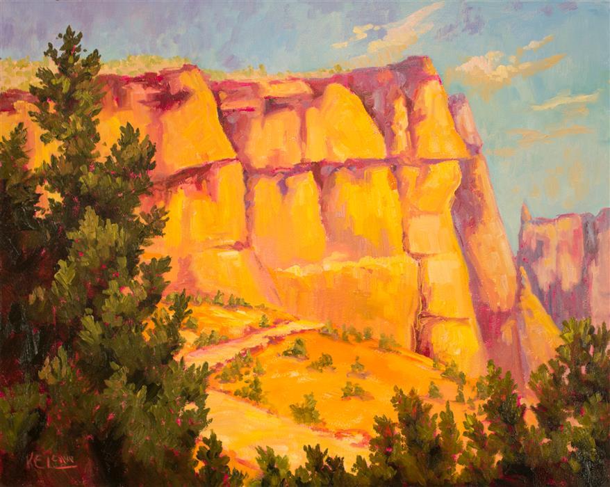 "Tent Rocks (24"" x 30"") by Karen E. Lewis, oil painting"