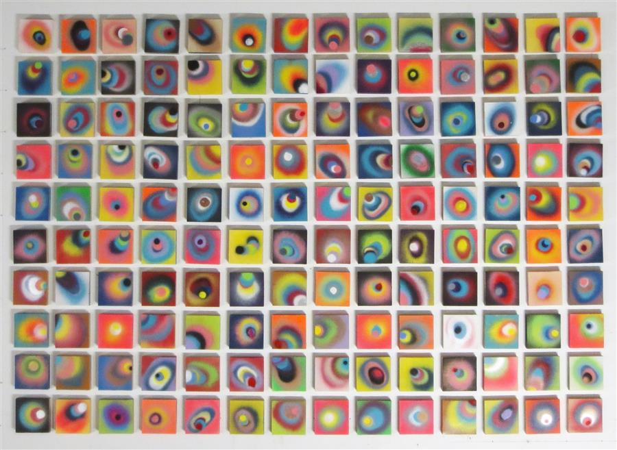 "140 Sounds  (48"" x 67"") by Jack R. Mesa, acrylic painting on wood"
