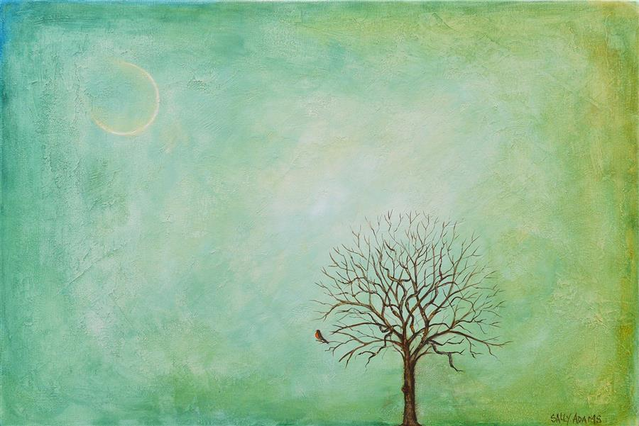 """Spring in Michigan II  (20"""" x 30"""")by Sally Adams, acrylic painting"""
