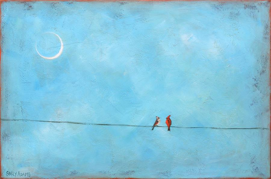 """Mr. And Mrs. II  (20"""" x 30"""") by Sally Adams, acrylic painting"""