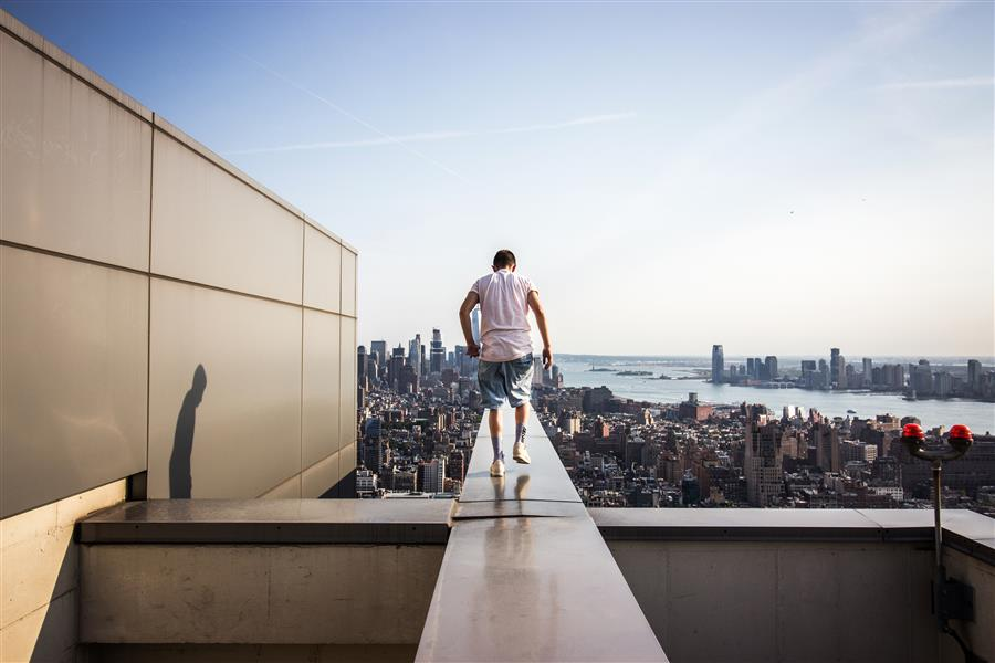 On the Roofs in New York City by Anthony Sokolov, fine art print