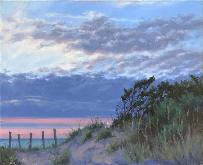 """Twilight on the Outer Banks  (24"""" x 30"""")  by Jennifer Young, oil painting"""