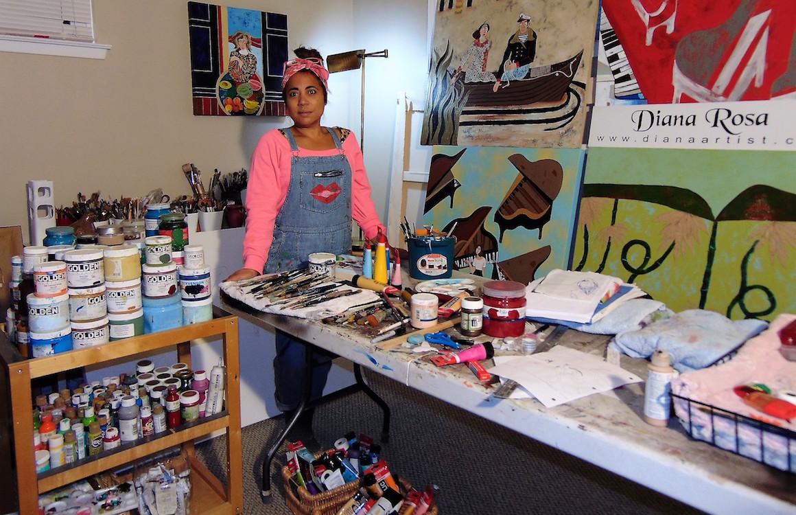 Diana Rosa in her studio.