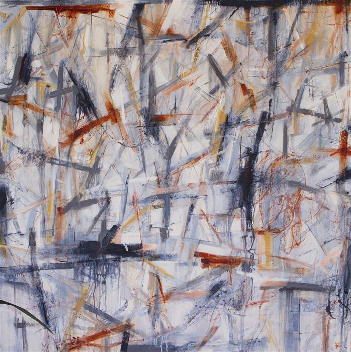 """Details, Details  (48"""" x 48"""") by Susan Cretarolo, oil painting"""