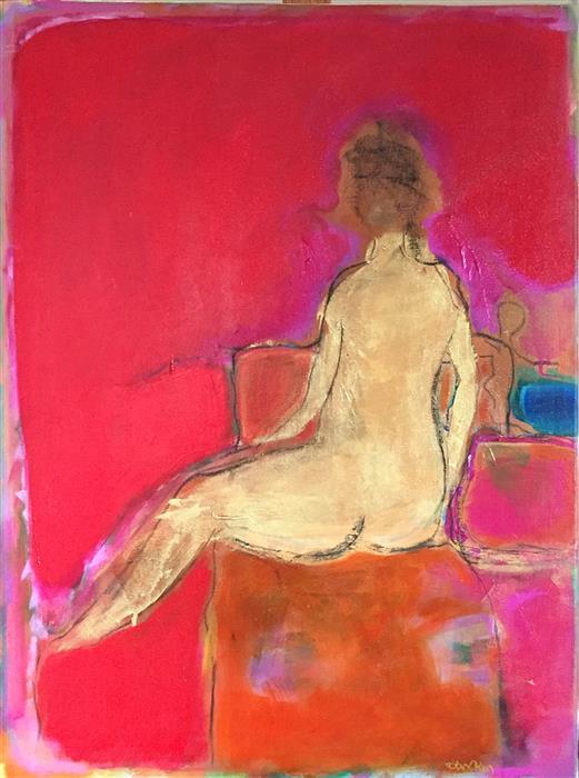 "Luminous  (24"" x 18"") by Robin Okun, acrylic painting"