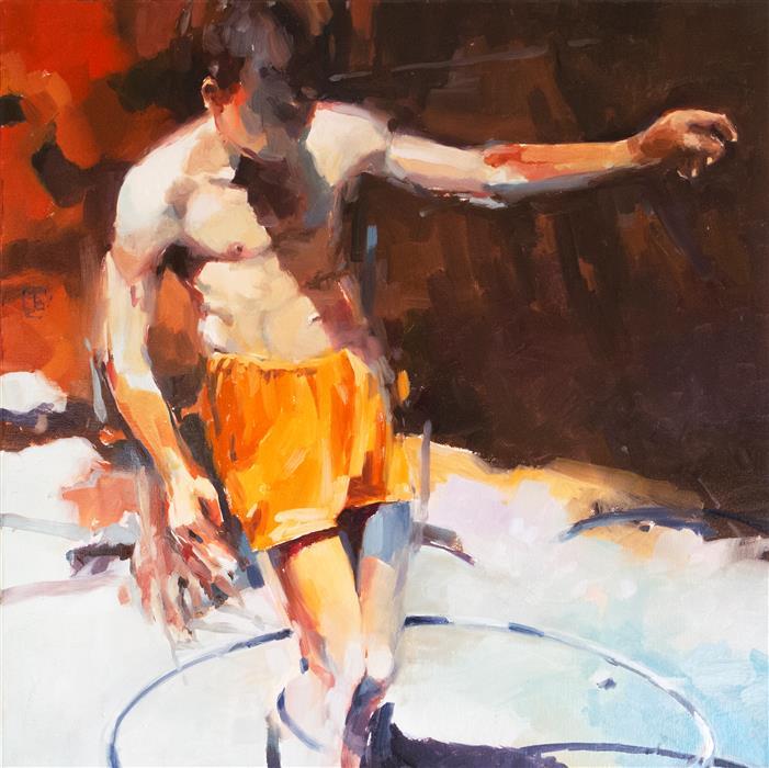 "Italian Bathers 4  (30"" x 30"") by Tony Belobrajdic, oil painting"