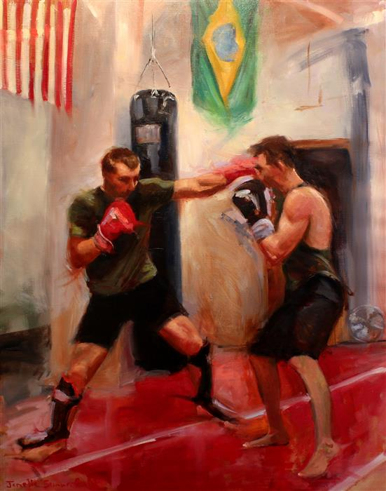 """Sparring Day  (30"""" x 24"""")by Jonelle Summerfield, oil painting"""