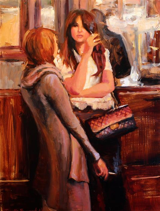 """Ladies Night Out  (16"""" x 12"""") by Jonelle Summerfield, oil painting"""