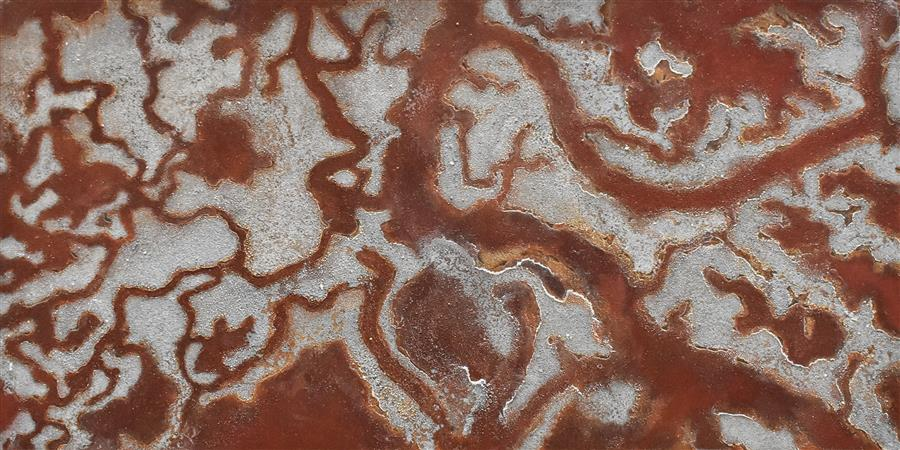 "San Francisco South Bay Salt Pond  (15"" x 30"")  by Tobias Tovera, mixed media"