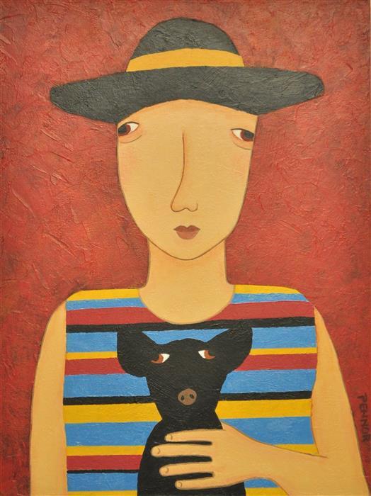 "Ah Chihuahua  (24"" x 18"") by Carolyn Pennor, acrylic painting"