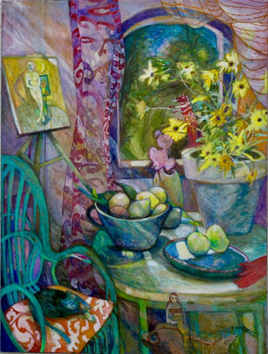 """Dream Within a Painting  (44"""" x 36"""") by Dixie Salazar, oil painting"""
