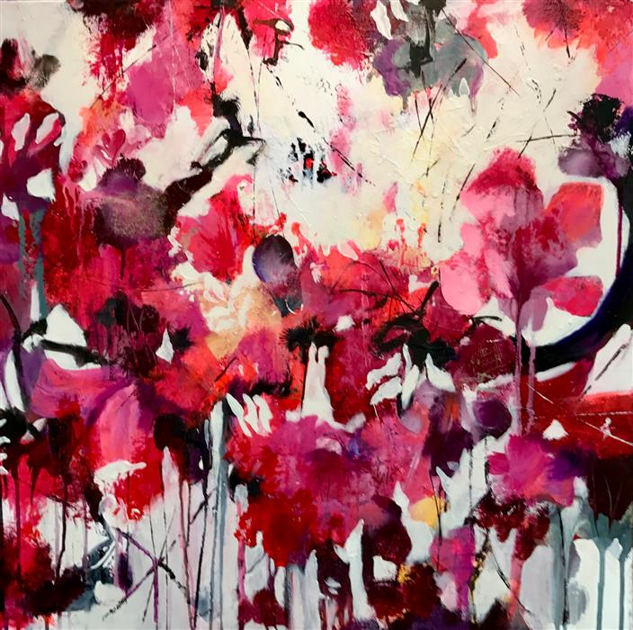 """Morning Bloom  (24"""" x 24"""") by DL Watson, acrylic painting"""