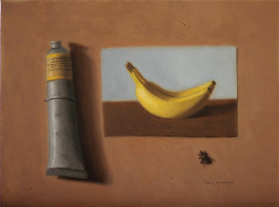 "Chrome Yellow  (9"" x 12"")by Joes H. Alvarenga, oil painting"