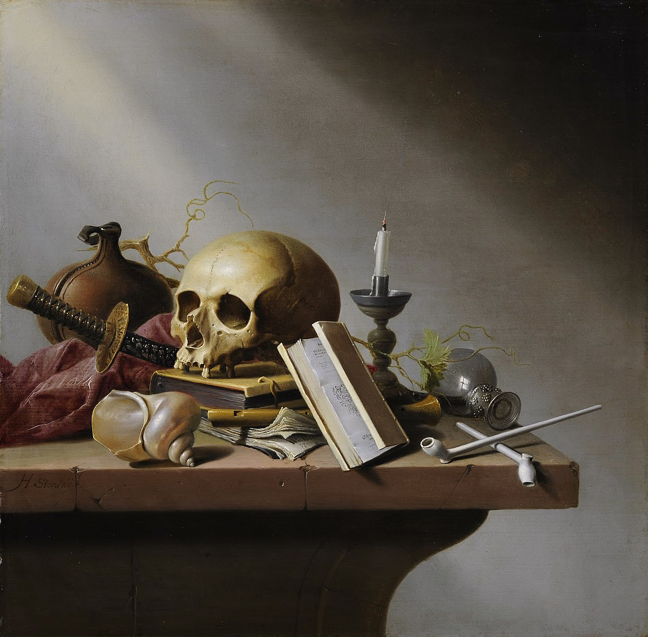 Vanitas  by Harmen Steenwijck, ca 1640