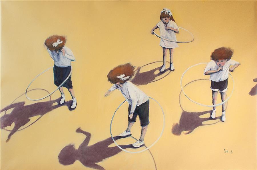 Artwork:  Ink Spots  by Nata Zaikina, oil painting