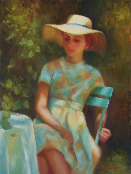 "Dappled Light  (16"" x 12"") by Sherri Aldawood, oil painting"