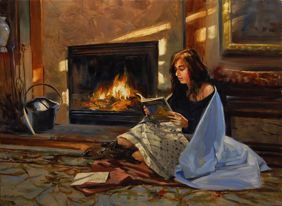"""Early Morning  (18"""" x 24"""")  Contemplation  by Onelio Marrero, oil painting"""