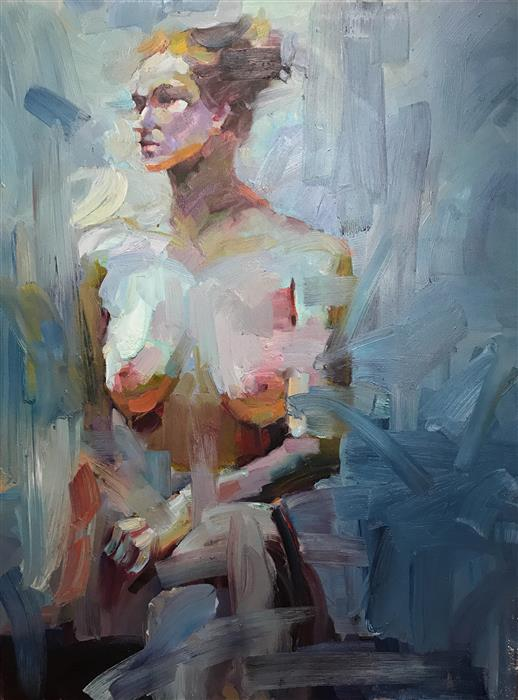 "Figure of the Beauty  (48"" x 36"") by Brian Zheng, oil painting"