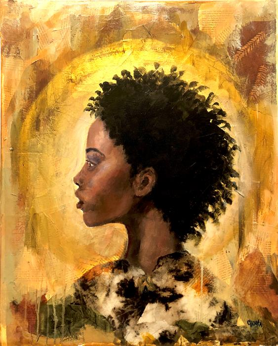 """I Am A Soul That Lives  (30"""" x 24"""")   by Christa Forrest, acrylic painting"""