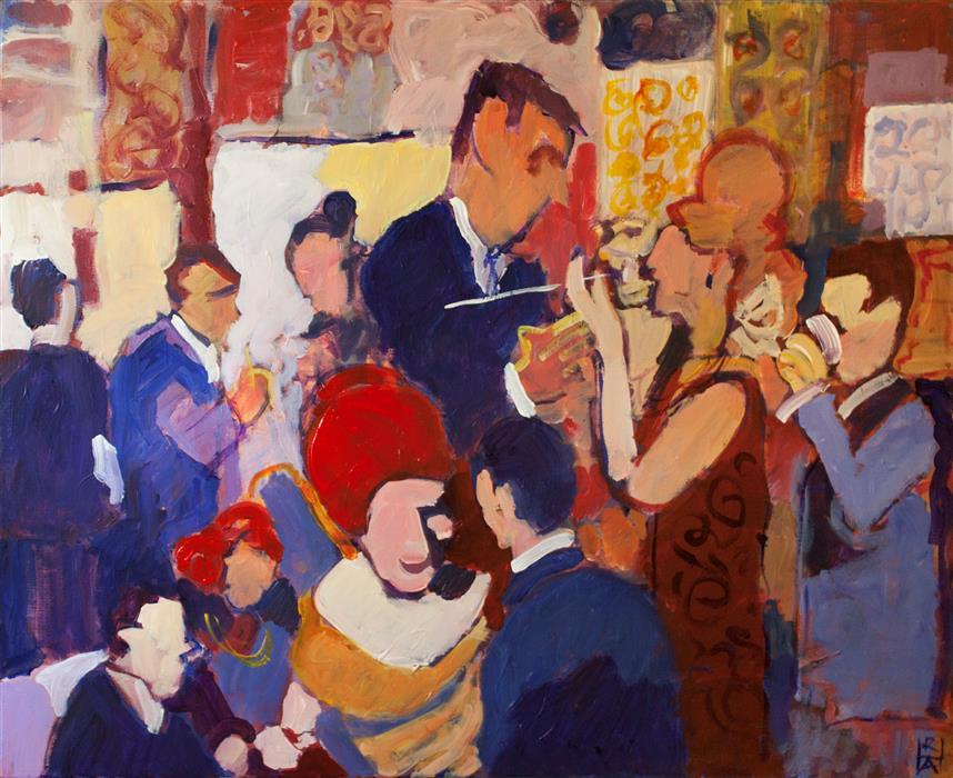 "Tread Lightly  (24""x 30"") by Robert Hofherr, acrylic painting"