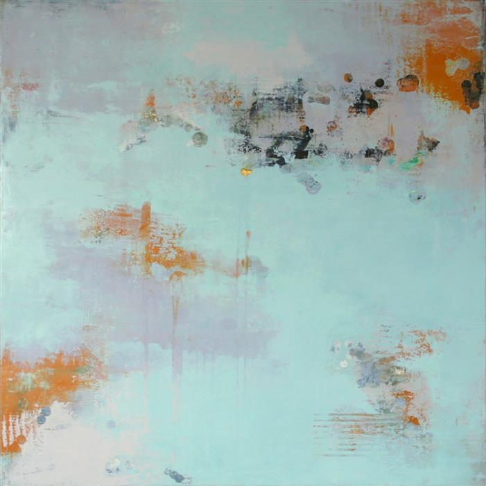 "Lambent Series 5  (42"" x 42"")   by Martha McCowin, mixed media artwork"