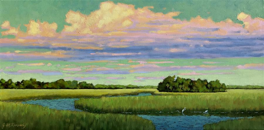 "Carolina on My Mind  (12"" x 24"") by J. Michael Kennedy, oil painting"