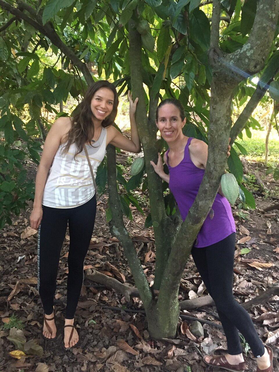 With Giovanna Garcia, 7 day retreat, November 2017.