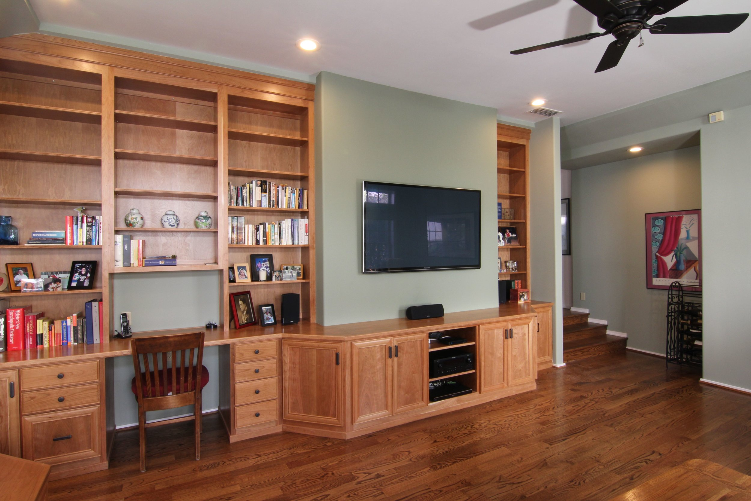 West Land Park Drive family room: AFTER