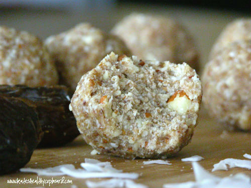 Raw Coconut Cookie Balls