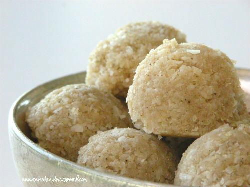 Raw Coconut Dough Bites