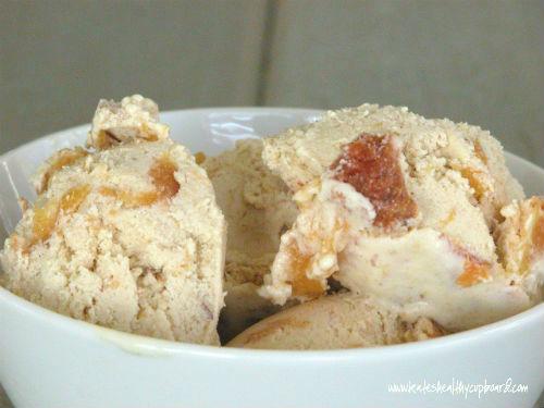Roasted Peach Ice Cream