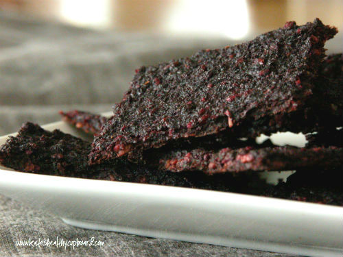 Raw Beet and Sunflower Seed Crackers
