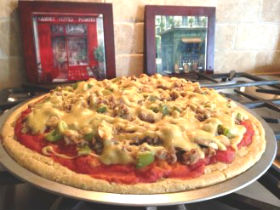 Paleo Sausage & Veggie Pizza